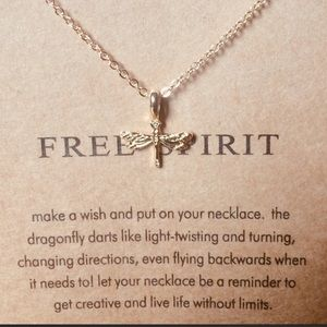 Dragonfly Free Spirit Necklace
